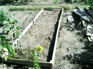 Raised bed before being filled with compost